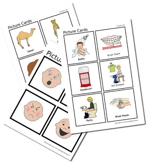 Picture Cards for Classroom/Therapy