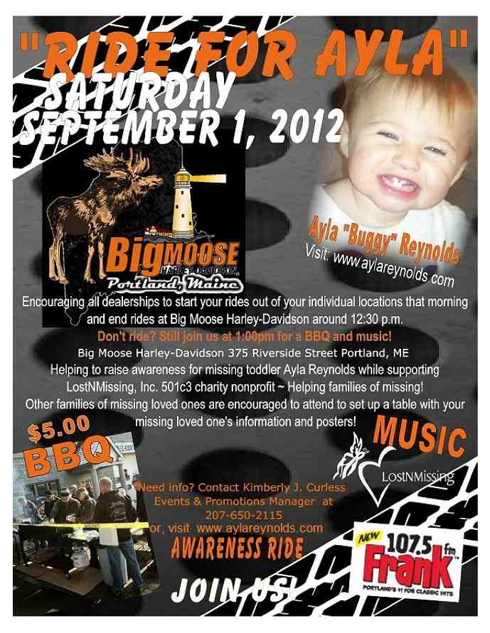 1Ride For Ayla - Sat Sept 01 2012 - Big Moose Harl