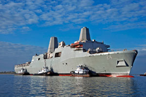 The USS Arlington (LPD-24) - Photo Credit, Northrop Grumman