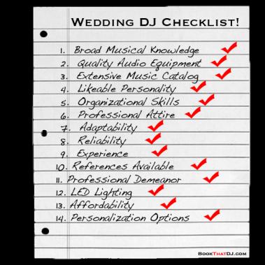 Affordable DJ Service Checklist -- JL Entertainment   PRLog