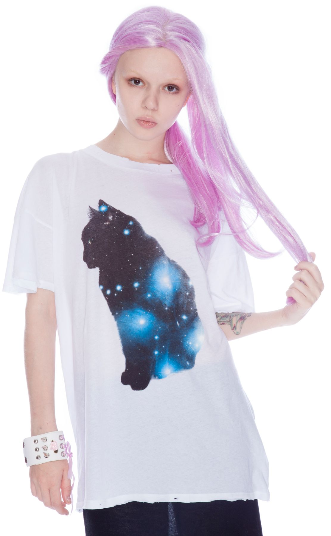 Wildfox Couture Galaxy Cat Tee