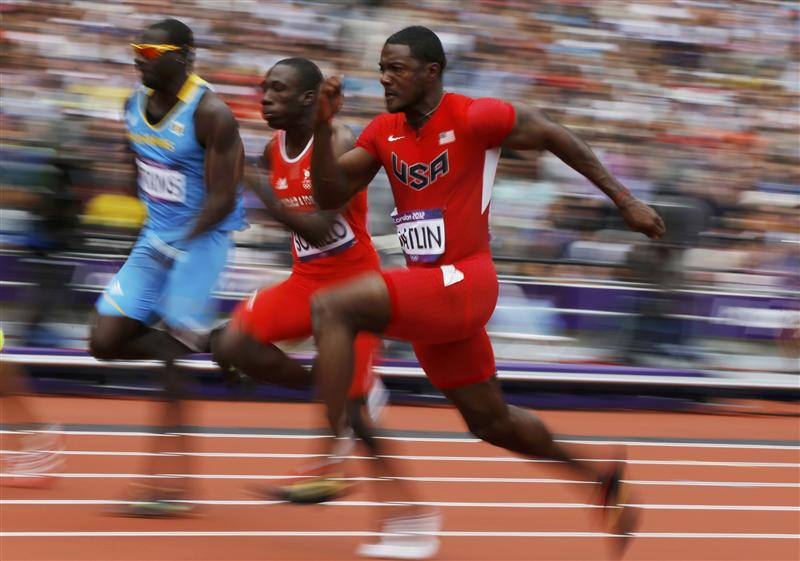 Justin Gatlin got Silver, Bronze and a new American Record in the 4x100 Relay