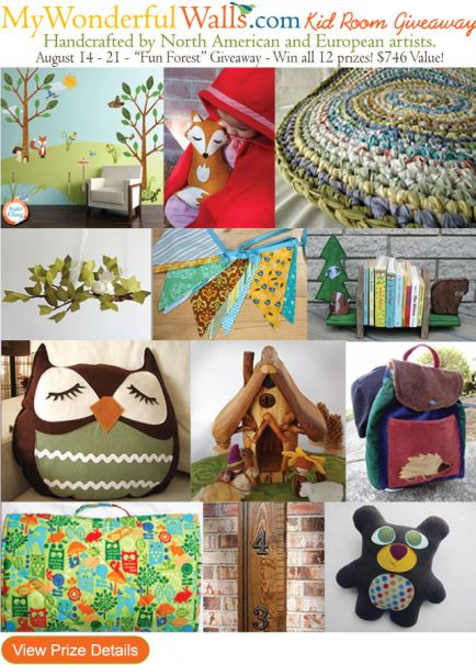 Fun Forest Kid Room Giveaway by My Wonderful Walls