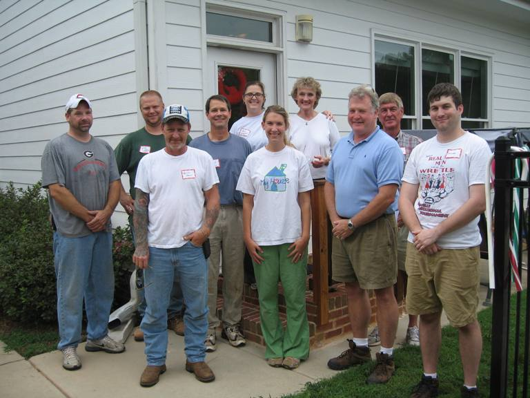 HomeAid Volunteers at My House