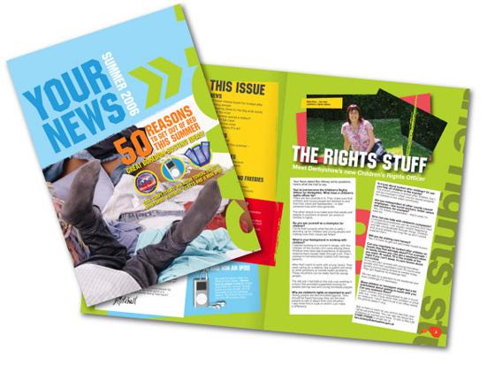Creative Newsletter Layout Design Services, DTP Newsletter Layout ...