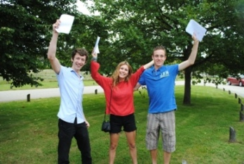 Bedales students (L-R) Jack Briggs, Tegen Evans and Luke Austen