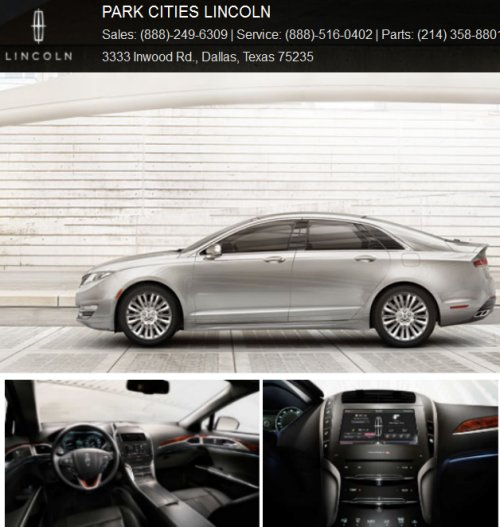 The 2013 Lincoln MKZ Dallas Lincoln Dealer Part Cities Lincoln