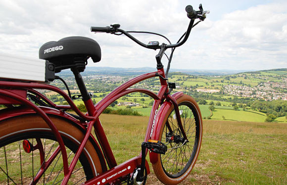 Pedego's  assortment of chic styles and colors are popular in Europe.