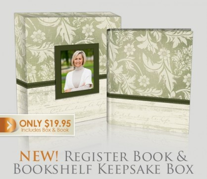 New!   Funeral register book keepsake boxes