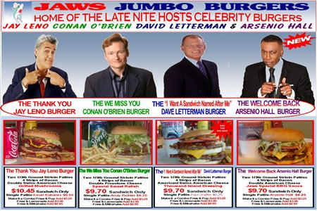Late Night Hosts & Burgers