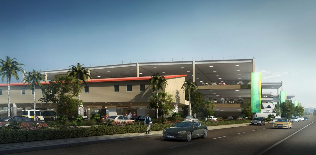 Bob Hope Airport Regional Intermodal Transportation Center. Rendering by PGAL.