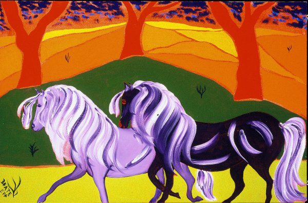 magical horses painting