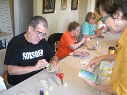 Park Lawn residents enjoying art class at McCord Gallery