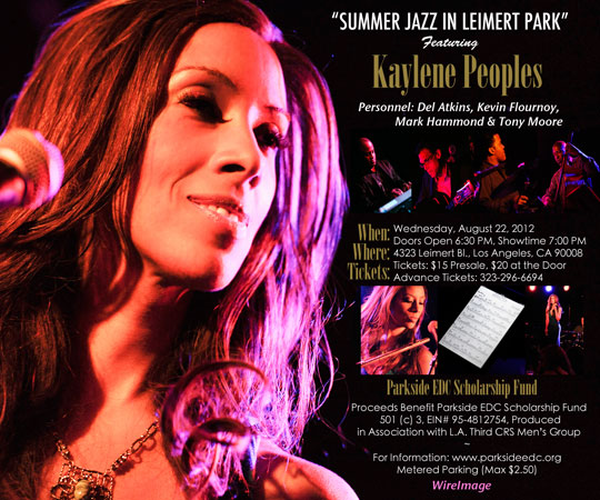 Leimert Park Summer Jazz Concert Series Featuring Kaylene Peoples on 8-22-12
