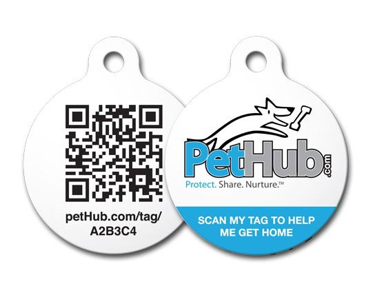 "PetHub ""Fetch Dog"" tag"