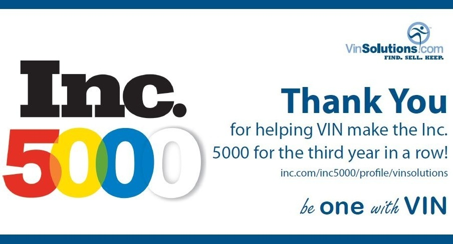 VinSolutions Ranked in Inc. 5000