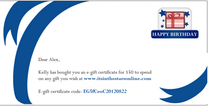 Happy Birthday E Gift Certificate For Last Minute Birthdays