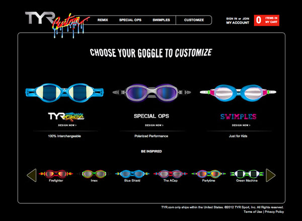 TYR Sport Goggle Customizer