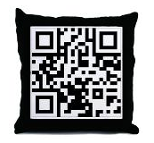 GeoClique QR Pillow