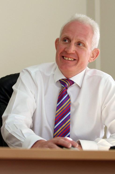 Mark Brocklehurst in his office