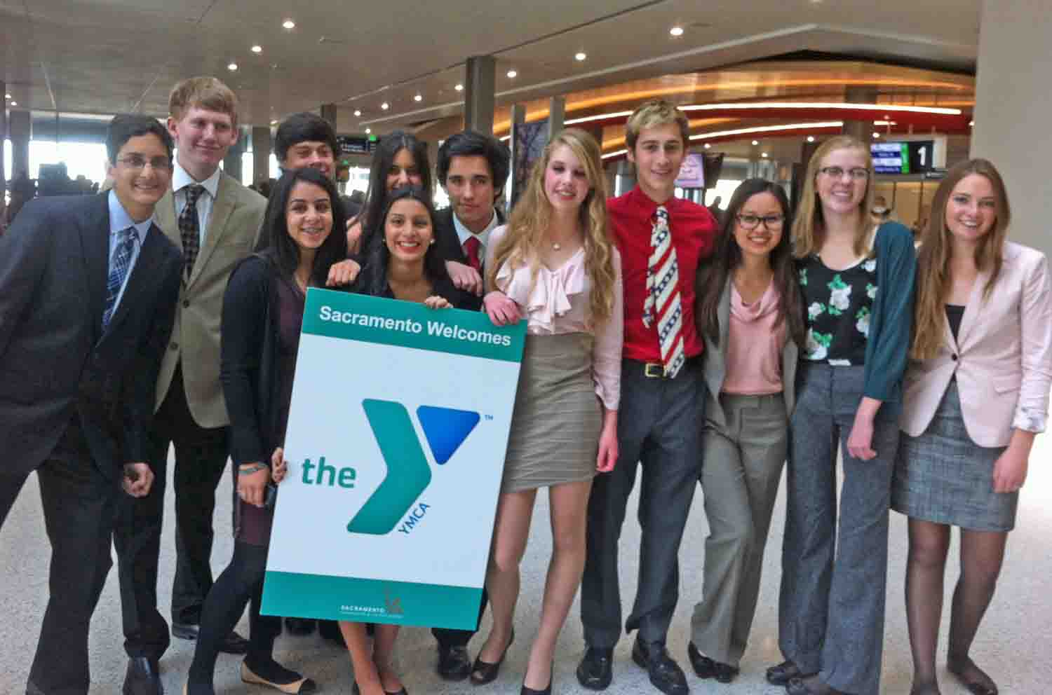 Miller YMCA's delegates at last year's Sacramento conference.