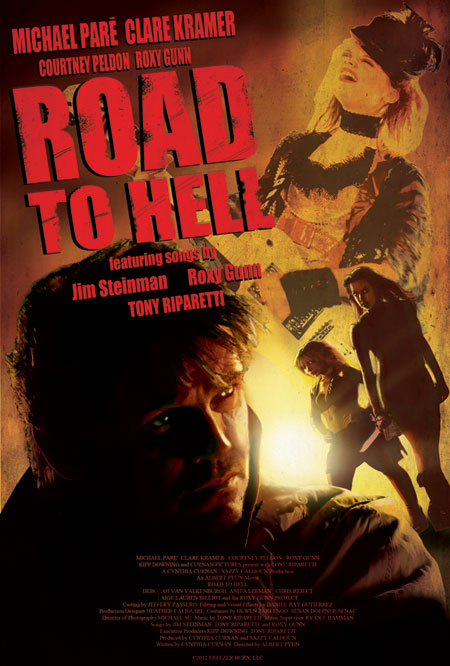 Road to Hell stars Michael Paré and The Roxy Gunn Project.