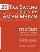 20 Free Tax Saving Tips eBook by Allan Madan of Madan Chartered Accountant