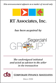Segerdahl Acquires RT Associates