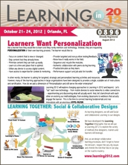 Learning in 2012 Newsletter
