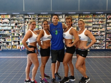 "Eraldo Maglara and the ""Jersey Fit Girls"""