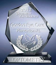GORDON EYE CARE USCC AWARD 8-30-12