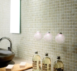 Recycled Glass Mosaic Tile Natural Sand