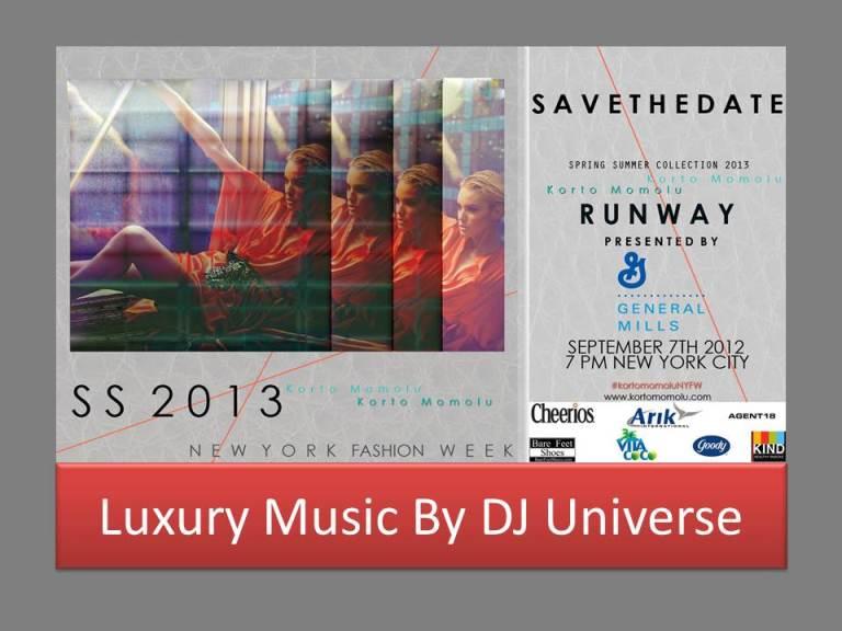 Korto Momolu SS2013 NYFW 2012_Luxury Music By DJ U