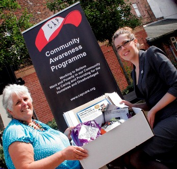 Elisabeth Hibbert co-founder of Cap Care and Nichola Wallis from Holroyd Miller
