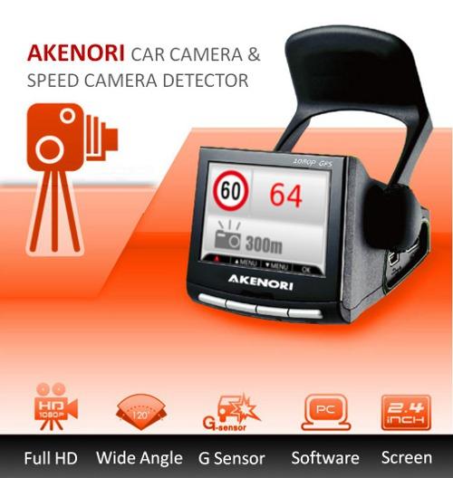 Akenori Car Camera with Speed Camera Detection