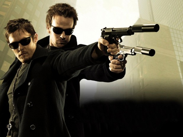 Sean Patrick Flanery and Norman Reedus with Guns-L