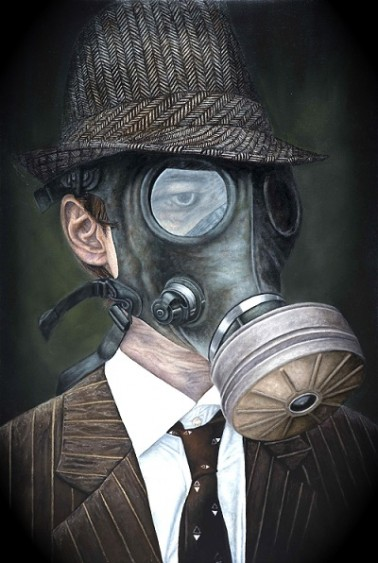 Michael LaBua, Asphyxiation, Oil on Linen, 39 in x 59 in, 2012