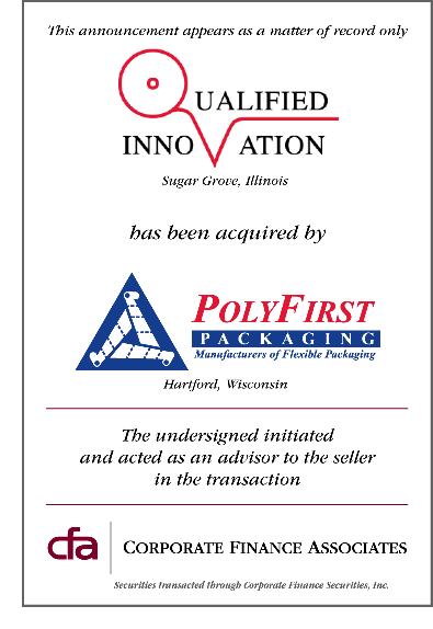 PolyFirst acquires Qualified Innovation, Inc.