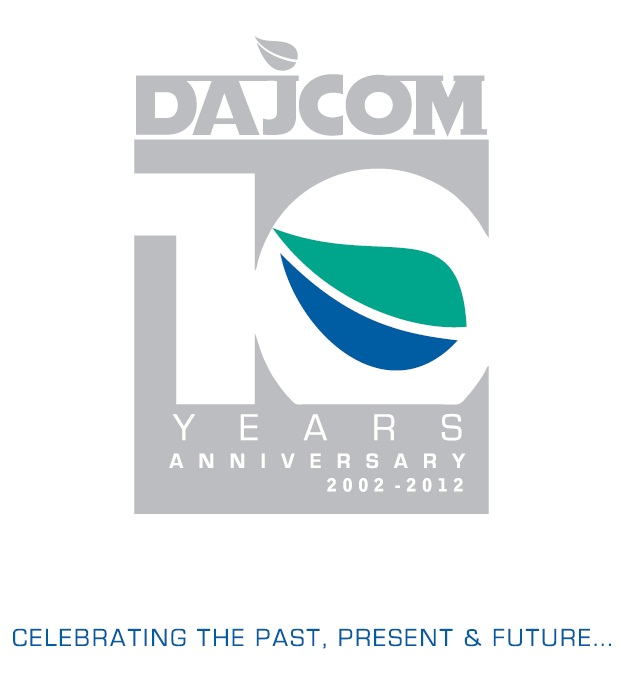 Dajcom 10th Anniversary Logo-Grey