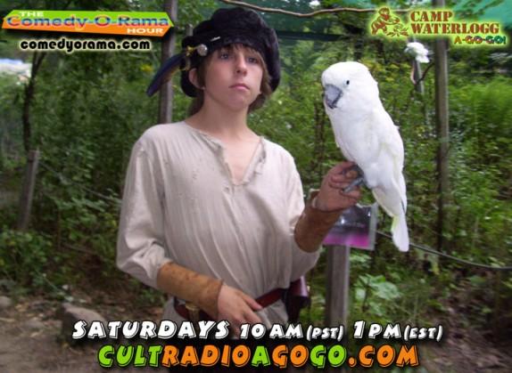 Camp Waterlogg on Comedy-O-Rama Saturdays 1 pm online at cultradioagogogo.com