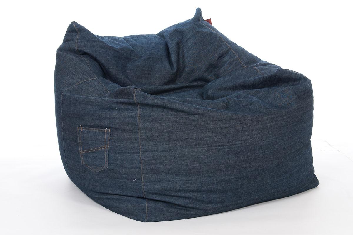 Slack Beanbag Chair Denim Chillout