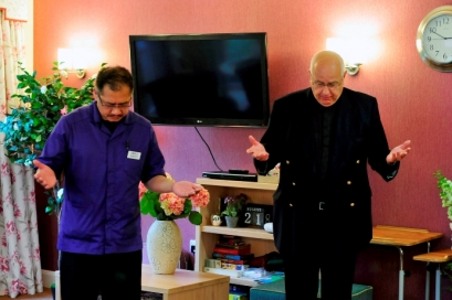 Norman Ponce, Mill View Clinical Lead with Rev Canon Clive Everett-Allen
