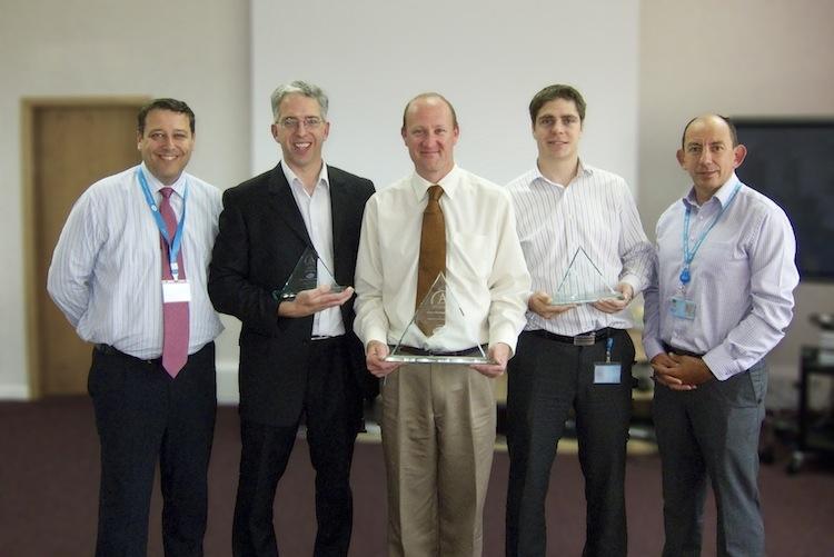 The Pfizer Havant team receiving their Class A awards