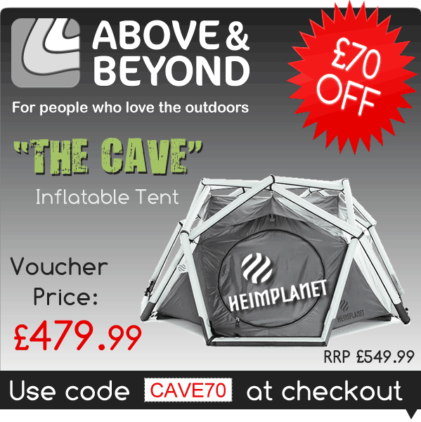 "£70 Off ""The Cave"" Tent by Heimplanet with code CAVE70 @ AboveAndBeyond.co.uk"