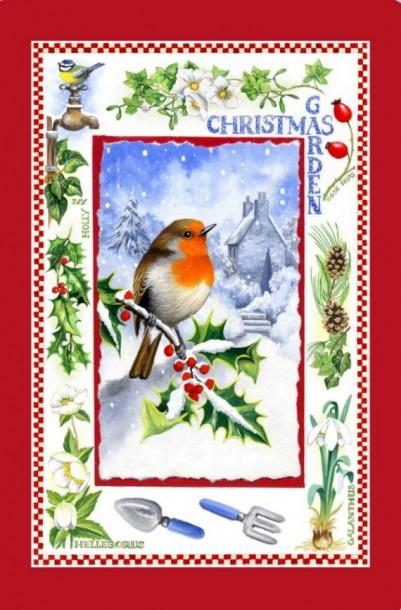 christmas_garden_robin_snow_red_border