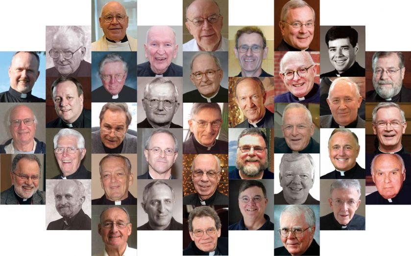 The 37 Jesuits celebrating a Jubilee anniversary in 2012