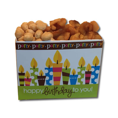 Dried Apples & Roasted Macadamias Birthday BasketBox