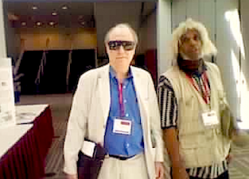 J.R. Gott and Marshall Barnes at 2012 Mars Society conference(Copyright 2012)