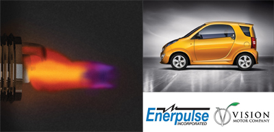 Vision Motor Company CNG vehicles now equipped with Enerpulse's Pulse Plug