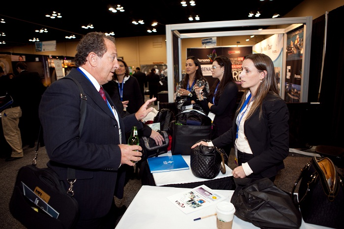 Attendees Networking in Exhibit Hall